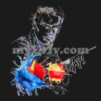 [Black/White] Man Of Steel T-Shirt