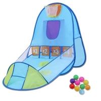 Blue Throw Ball Tent House