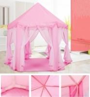 Indoor/Outdoor Pink Pentagon Tent