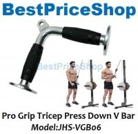 Gym Tool - Pro Grip V Shaped Tricep Press Down Bar Arm Muscle JH-PB10R