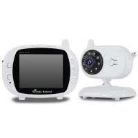 "3.5"" LCD IR Night Vision Baby Monitor Wireless Video 2-Way Talk US Plug"