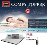 Goodnite Anti Mosquito Comfy Mattress Topper FREE repellent - QUEEN