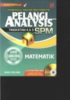 PENERAJU MAHIR MATEMATIK PELANGI AVALYSIS TG4&5 MATEMATIK SPM