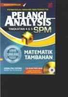 PENERAJU MAHIR MATEMATIK PELANGI AVALYSIS TG4&5 MATEMATIK TAMBAHAN SPM