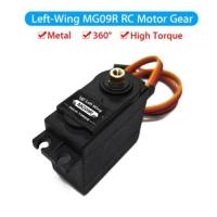 1PCS MG09R 360 DEGREE  HIGH TORQUE METAL GEAR RC SERVO MOTOR HELICOPTER CAR BOAT 13KG (BLACK)