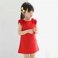 Summer Girls Fashion Cotton Sleeveless Pullover Princess Dress