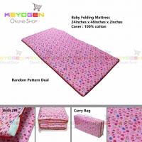Keyogen Homie 100% Cotton Baby Folding Mattress with carry bag (Random Pattern)
