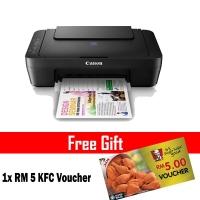 Canon Pixma E410 Color Inkjet Multifunction Printer (Black)  + RM 5 KFC Voucher