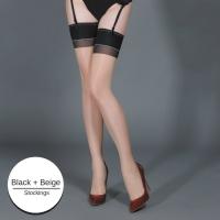 Sexy Sheer Back Seam Cuban Heel Stockings