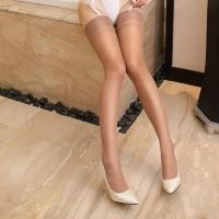 Sexy Sheer Plain Back Seam Cuban Heel Stockings