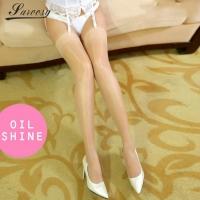 Sexy Sheer Plain Oil Shiny Smooth Stockings