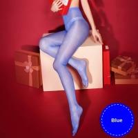 Fashion Pantyhose Open Crotch Glossy Oil Shiny Detail 30D