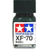 Tamiya Color Enamel Paint XF-70 Dark Green 2 (10ML)