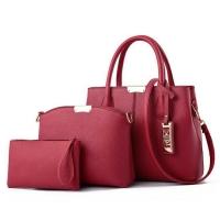 {JMI} 3 in 1 Elegant & Romance Handbag 0163# - 5 Colors