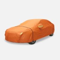 [DARK CLOUD - OXFORD - ORANGE] EXTRA THICK CAR VEHICLE COVER BELT LOCK / FABRIC