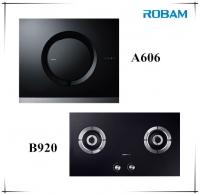 ROBAM A606 Chimney Hood + B920 Burners Glass Hob