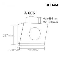 ROBAM A606 Chimney Hood + B928 2 Burners Glass Hob