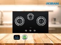 ROBAM A606 Chimney Hood + B396 3 Burners Glass Hob