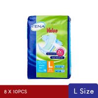 TENA Value Adult Diaper L 10's x8 Pack