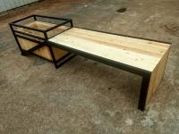 Pine wood Bench with Plantation Box