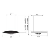 ROBAM A608 Chimney Hood+ B920 Burners Glass Hob