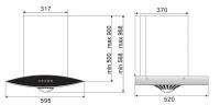ROBAM A608 Chimney Hood + B928 2 Burners Glass Hob