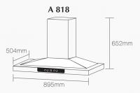 ROBAM A818 Chimney Hood + B978 2 Burners Glass Hob