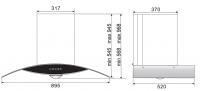 ROBAM A812 Chimney Hood + B978 2 Burners Glass Hob