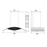 ROBAM A812 Chimney Hood + B920 Burners Glass Hob