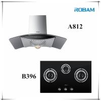 ROBAM A812 Chimney Hood + B396 3 Burners Glass Hoob