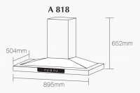 ROBAM A818 Chimney Hood + B920 Burners Glass Hob