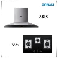 ROBAM A818 Chimney Hood + B394 3 Burners Glass Hob