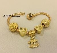 Emas Korea 24K Gold Plated Charms Bracelet