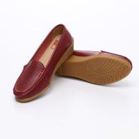 UNISHO Women Flats Leather Designer_Shoes - U1001 RED