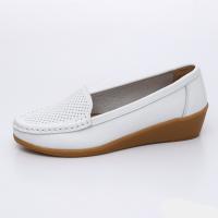 UNISHO Women Flats Leather Designer_Shoes - U1001 WHITE