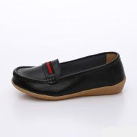 UNISHO Women Flats Leather Designer_Shoes - U1002 BLACK