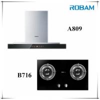 Robam A809 Chimney Hood + B716 2 Burners Glass Hob