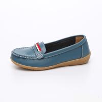 UNISHO Women Flats Leather Designer_Shoes - U1002 BLUE
