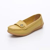 UNISHO Women Flats Leather Designer_Shoes - U1003 YELLOW