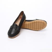 UNISHO Women Flats Leather Designer_Shoes - U1004 BLACK