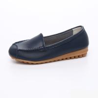UNISHO Women Flats Leather Designer_Shoes - U1005 BLUE
