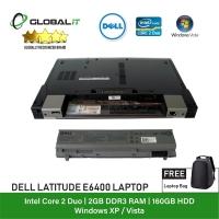 (Refurbished Notebook) Dell Latitude E6400 Laptop / 14 inch LCD / Intel Core 2 Duo / 2GB Ram / 160GB HDD / WiFi / Windows Vista