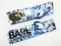 A Bathing Ape blue camo keytag keychain