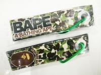 A Bathing Ape green camo keytag keychain