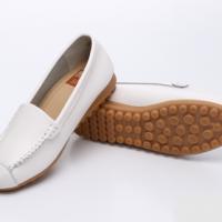 UNISHO Women Flats Leather Designer_Shoes - U1005 WHITE