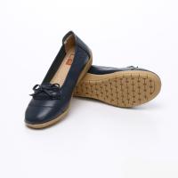UNISHO Women Flats Leather Designer_Shoes - U1006 BLUE