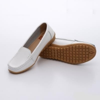UNISHO Women Flats Leather Designer Shoes - U1008 WHITE