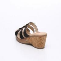 UNISHO Women Wedges Designer_Shoes - 1493 WEDGES BLACK