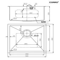 CORRO High Quality SUS304 Single Handmade Kitchen Sink