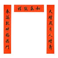 2019手写新春书法对联 - 天增岁月A